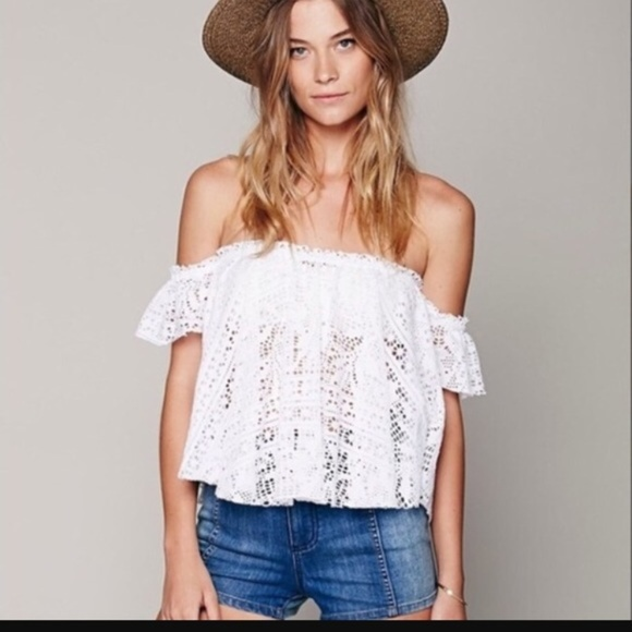 Free People Tops - Free People Beach Free To Be Eyelet Top Red Size S